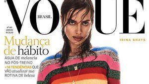 Irina Shayk, Unterwäsche-Model, auf dem Cover der Vogue Brasil