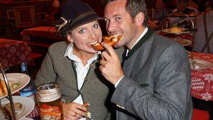 Jan Hartmann und Frau Julia auf dem Oktoberfest 2015