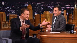 Jason Segel bei der Tonight Show mit Jimmy Fallon