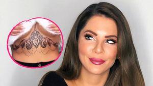 Unter der Brust: Jenny Frankhauser zeigt neues Riesen-Tattoo