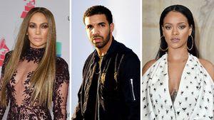 Jennifer Lopez, Drake und Rihanna