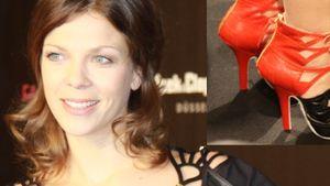 Jessica Schwarz überzeugte im rot-schwarz Look