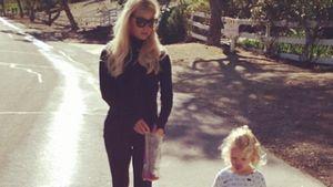 Sportlich! Tochter hält Jessica Simpson auf Trab