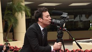 Jimmy Fallon bei den Vorbereitungen der 74th Annual Golden Globes