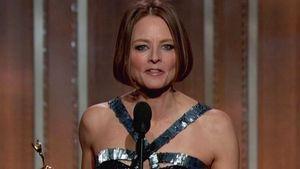 Jodie Foster mit dem Golden Globe in der Hand