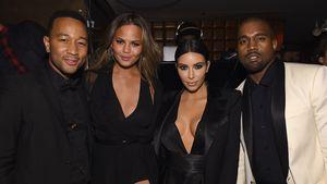John Legend, Chrissy Teigen, Kim Kardashian und Kanye West
