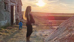 Josephine Welsch happy: Ihre Twins spielen schon im Bauch