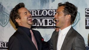 Robert Downey Junior und Jude Law
