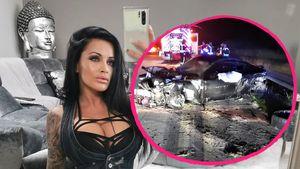 Krasse Bilder: Julia Jasmin Rühles Unfallauto total zerstört