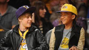 Justin Bieber und Jaden Smith feuern LA Lakers an