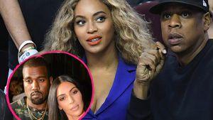 Kanye West mit Kim Kardashian und Beyoncé mit Jay-Z