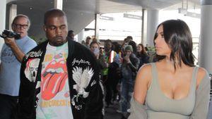 Kanye West und Kim Kardashian am Flughafen von Los Angeles