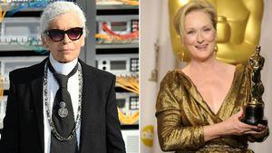 Karl Lagerfeld und Meryl Streep