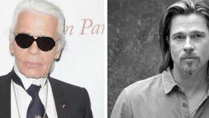 Brad Pitt und Karl Lagerfeld