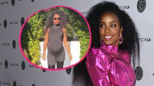 """Neunter Monat"": Kelly Rowland legt Schwanger-Catwalk hin"