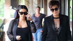 "Kim Kardashian und Kris Jenner bei Dreharbeiten zu ""Keeping up with the Kardashians"""