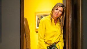 Ganz in Gelb: Königin Máxima besucht Museum in Den Haag