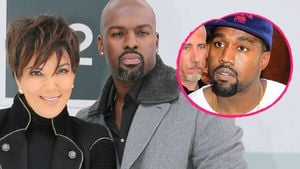Kris Jenner, Corey Gamble und Kanye West