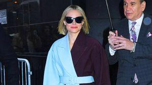 Color-blocking deluxe: Kristen Bell begeistert mit Mantel