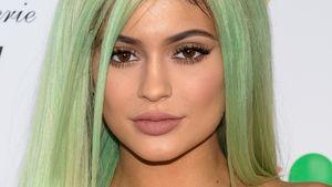 Kylie Jenner grüne Haare nah