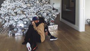 Kylie Jenner mit Freund Tyga unter dem Weihnachtsbaum