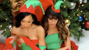 Wehmut am Glee-Set: Lea Michele & Co feiern X-Mas