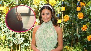 Seltener Anblick: Lea Michele streichelt ihren Babybauch