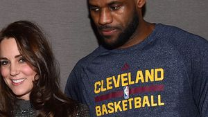 Gegen Etikette verstoßen! LeBron James umarmt Kate