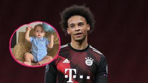 Selten: Nationalspieler Leroy Sané postet Foto von Sohn Milo