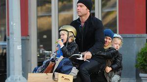 Liev Schreiber strampelt für Naomi Watts & Kids