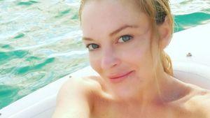 Lindsay Lohan ungeschminkt am Meer