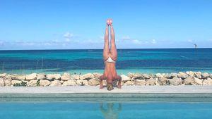 Lindsey Vonn auf den Turks- und Caicosinseln