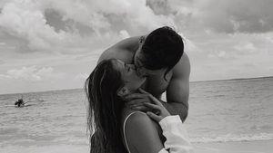 Aus dem Honeymoon: Liz Kaeber teilt seltenes Pärchen-Pic