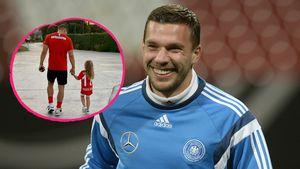 Total süß! Lukas Podolski teilt ein Foto mit seiner Tochter