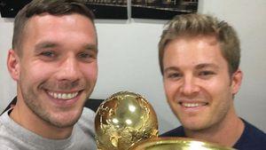 Lukas Podolski & Nico Rosberg in Köln