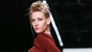 Model Mandy Bork auf der Fashion Week in Berlin