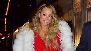 Roter Weihnachtslook: Mariah Carey mit Familie beim Dinner