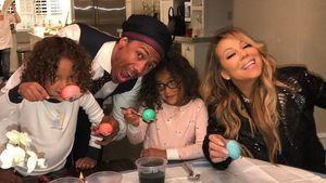 Nick Cannon, Mariah Carey mit den Kindern Moroccan und Monroe