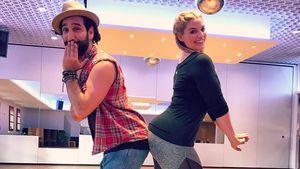 """Massimo Sinató und Angelina Kirsch beim """"Let's Dance""""-Training"""