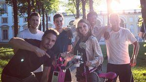 "Mats Hummels mit Jella Haase, David Alaba und Joshua Kimmich bei ""Fack ju Göhte 3"""
