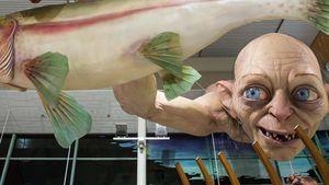 Abgefahren: Mega-Gollum schockt am Flughafen