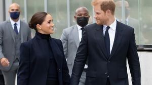 In New York: Prinz Harry trägt Accessoire für Sohn Archie