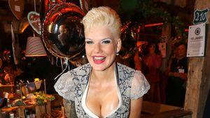 Reality-TV-Darstellerin Melanie Müller beim Oktoberfest in München