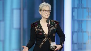 Meryl Streep bei den 74. Golden Globe Awards in Beverly Hills