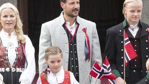 Mette-Marit, Haakon und Ingrid Alexandra von Norwegen