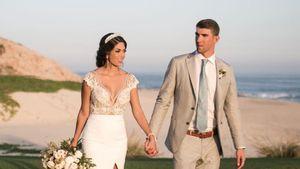 Michael Phelps und seine Frau Nicole während ihrer Hochzeitsfeier
