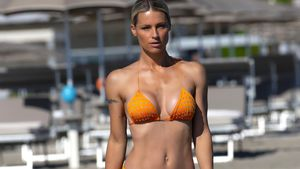 Am Strand: Michelle Hunziker legt heiße Bikini-Show hin!