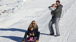 Michelle Hunziker, Tomaso Trussardi, Sole Trussardi, Celeste Trussardi im Winterurlaub
