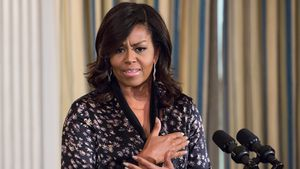 MIchelle Obama hält eine Rede im Weißen Haus in Washington