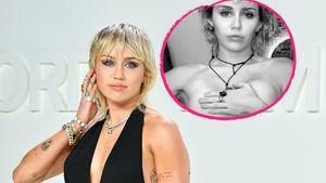 Nackt und Zunge raus: Miley Cyrus strippt lasziv im Netz